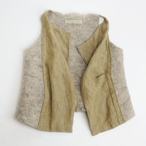 nube felt and silk vest