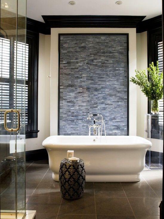 23 best bath feature walls images on pinterest bathroom for Best bathroom features