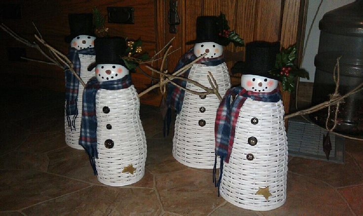 Snowmen that we made for Christmas 2011.