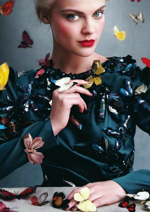 Beautiful butterflies / karen cox. Viktoriya Sasonkina in US Harper's Bazaar for September 2013. Luxury and butterflies