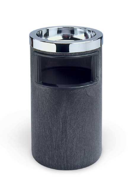 Poubelle de métal avec cendrier