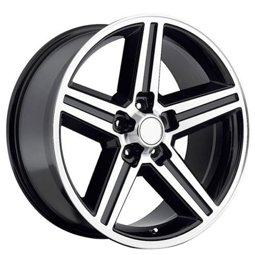 "<p>  22"" IROC Wheels Black Machined 5-lugs Rims</p>"