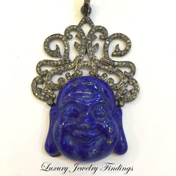 $ 246 Lapiz Buddha Pendant Necklace Buddha by LuxuryJewelryFinding