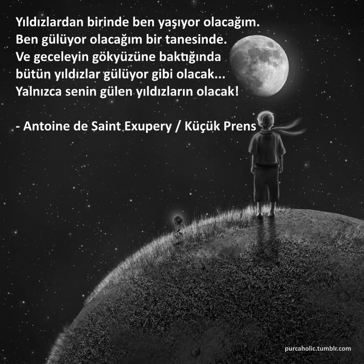 Yıldızlardan birinde ben yaşıyor olacağım. Ben gülüyor olacağım bir tanesinde. Ve geceleyin gökyüzüne baktığında bütün yıldızlar gülüyor gibi olacak... Yalnızca senin gülen yıldızların olacak!  - Antoine de Saint Exupery / Küçük Prens  #sözler #anlamlısözler #güzelsözler #özlüsözler #alıntı #alıntılar #alıntıdır #alıntısözler #kitap #kitapkurdu #kitapaşkı #kitapsevgisi #kitapoku #küçükprens #thelittleprince #lepetitprince
