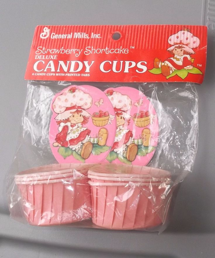 Vintage Strawberry Shortcake New General Mills Candy Cups Set of 6 | eBay