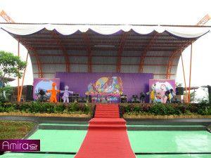 Sewa Tenda Dekorasi ( Konfensional ) Event Peresmian Water Kingdom Taman Mekar Sari Jawa Barat | Amira Tent