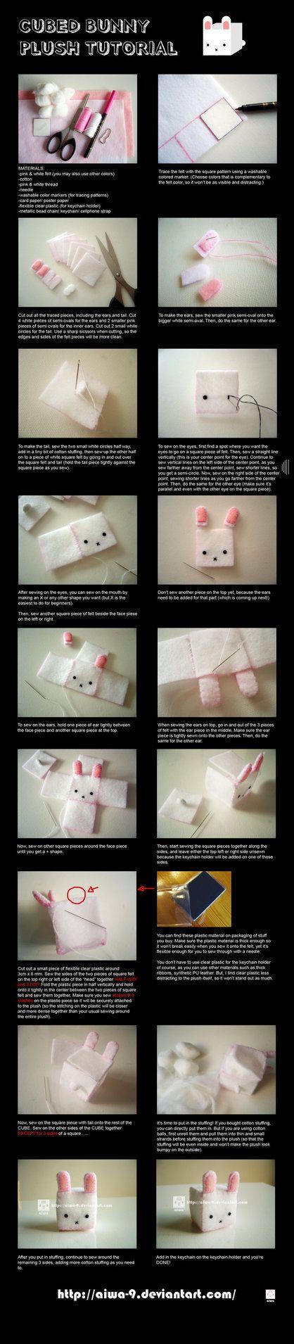 Cubimals! - CUBED bunny plush tutorial by ~aiwa-9 on deviantART