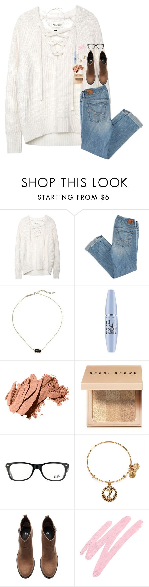 """""""starboy"""" by hailstails ❤ liked on Polyvore featuring American Eagle Outfitters, Kendra Scott, Maybelline, Bobbi Brown Cosmetics, Ray-Ban, Alex and Ani, H&M and NARS Cosmetics"""