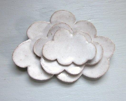 Nesting Cloud Plates - Ceramics via Jd Wolfe Pottery