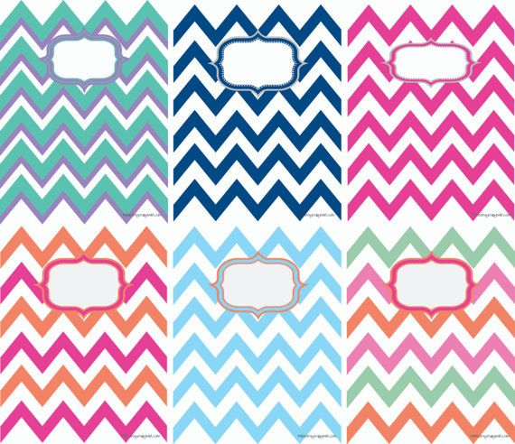 Free Printable Chevron Binder Covers