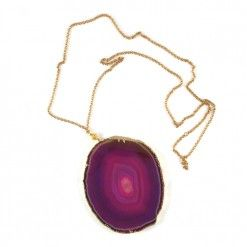 Gold Vermeli & Agate Necklace