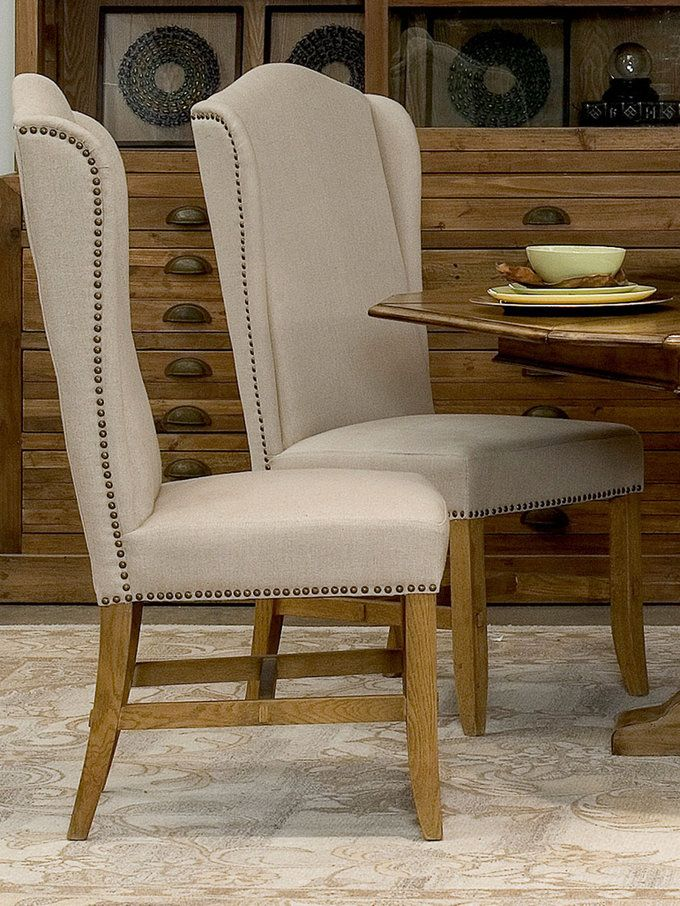 High Back Dining Chairs (Set of 2) from Living in Linen: Furniture on Gilt