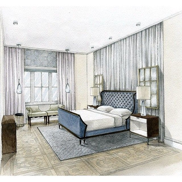 751 best interior sketches images on pinterest interior for 3d bedroom drawing