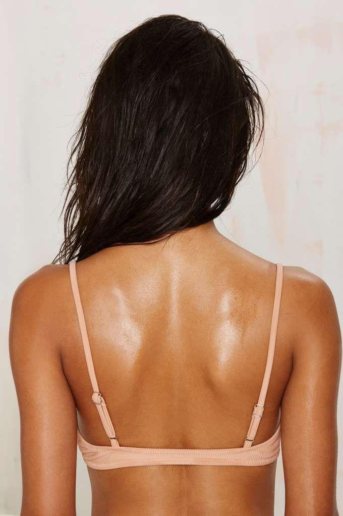 Nasty Gal Alina Bikini Top - Blush - Back In Stock   Bikinis   Swimwear   Swimwear