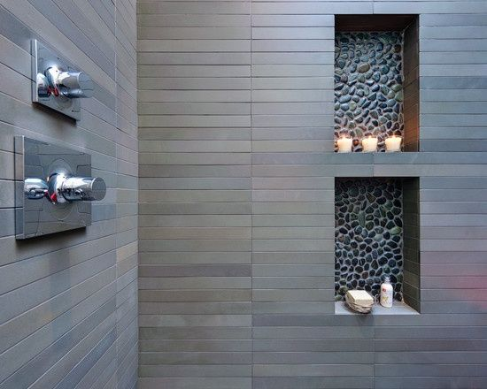 In-wall shelves
