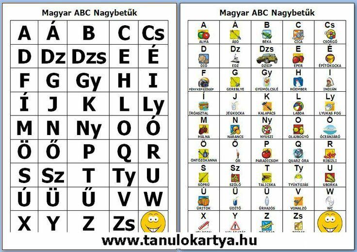 magyar abc nagybetuk