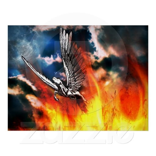 Pegasus - courage, strong wings and a pure heart posters  All products with this design you can find here: http://www.zazzle.com/ann_geldesign/gifts?cg=196999938608177762