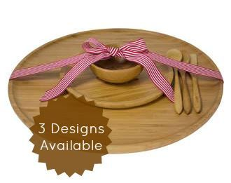 This entertainer Collection is sure to impress your guests. Featuring a Large Bamboo Platter to serve up your appetisers and a side plate for your crackers. The Dip Bowl completes the collection and is ideal for filling up with nibbles & dips. (Total collection is valued at $146.80)