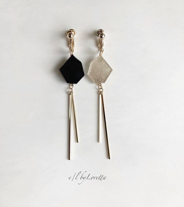 Drop with Pointed Tip Double Earring Mold