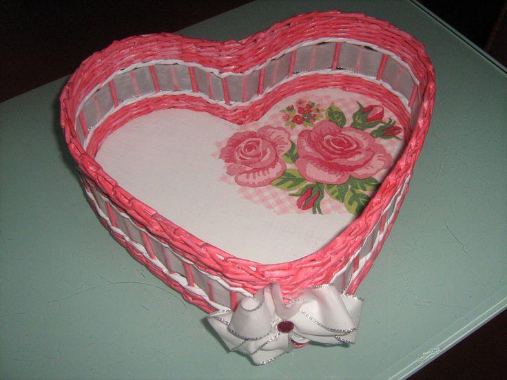 košík srdce