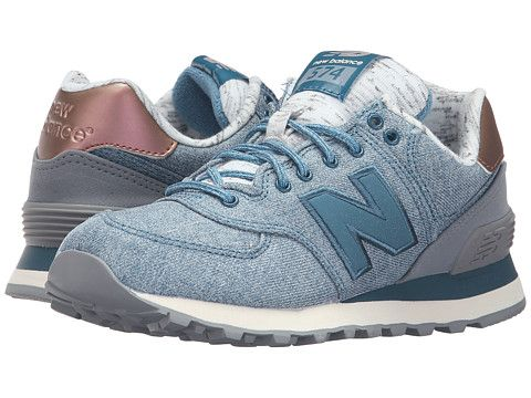 574 new balance blue with pink glow and white size 1