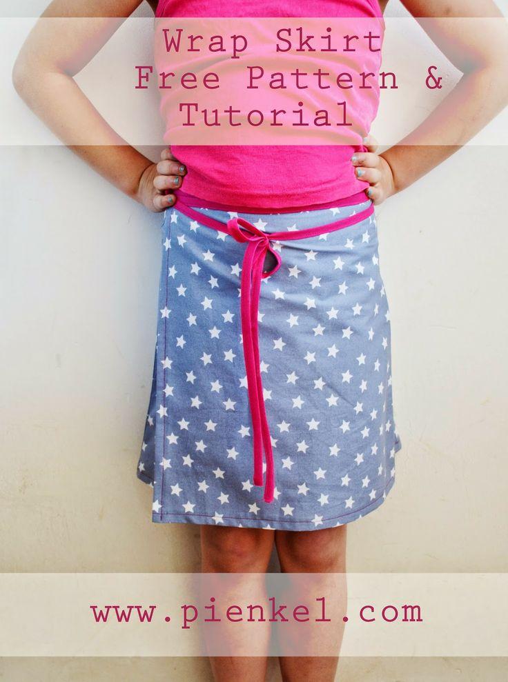 Wrap Skirt - Free Pattern  Tutorial from Pienkel