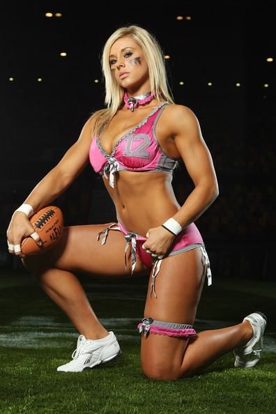 lingerie football babes topless