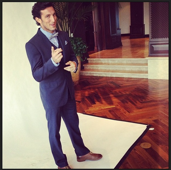 Juan Monaco at an Esquire shoot