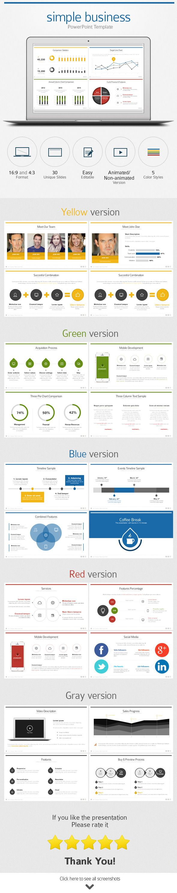 Flat Business PowerPoint Template