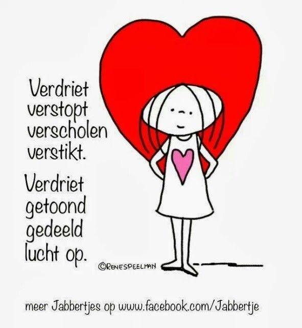 Verdriet verstop... Verdriet getoond... ❤ van Jabbertje