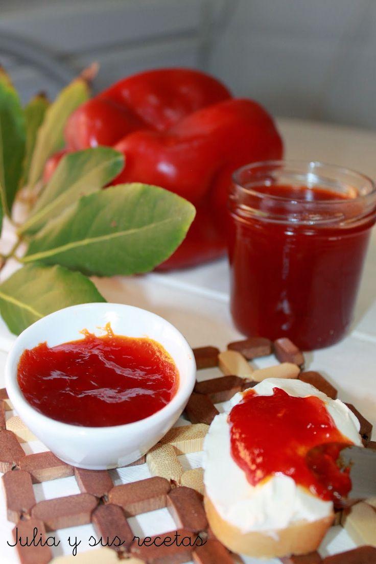 Mermelada , mermelada de pimientos, recetas de mermelada de pimientos rojos, Julia y sus recetas
