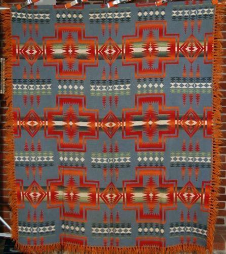 "Vintage 30's Beacon ""Agawam"" Ombre Antique Camp Trade Blanket Indian Design   eBay"