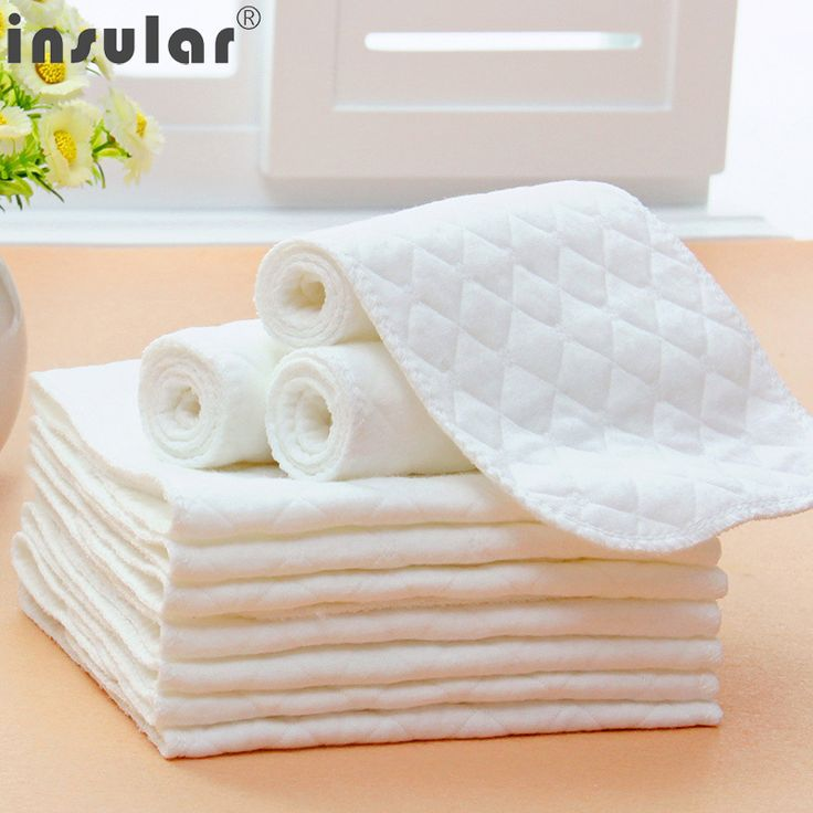 10 PC/Lot Reusable Cloth Diapers Inserts Easy Use Soft Breathable Baby Modern Baby Nappy Liners Inserts Reusable Diaper 46*17 cm