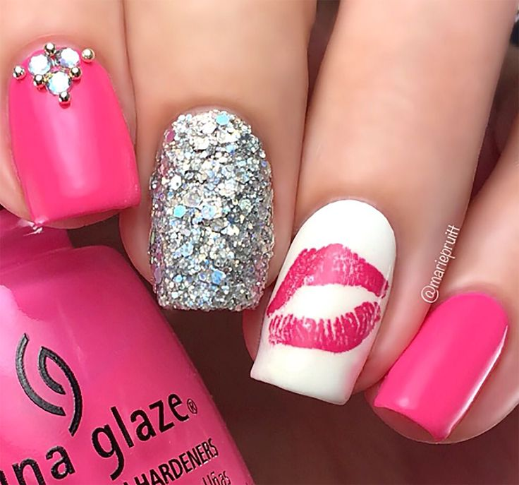 110 best Valentines Day Hearts & Love Nail Art Decals images on ...