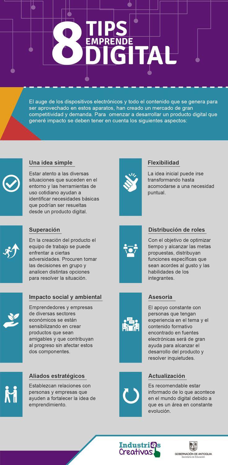 8 consejos para el Emprendimiento digital #infografia
