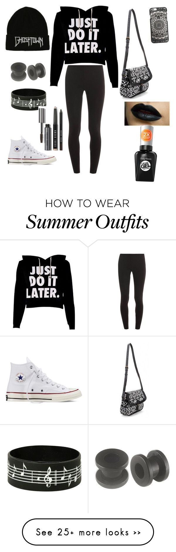 """Gens outfit"" by burgosgroup on Polyvore featuring Splendid, Converse, Sally Hansen and Bobbi Brown Cosmetics"
