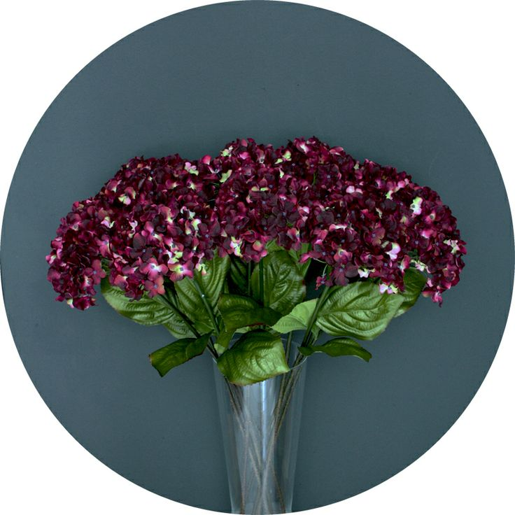 Luxury faux flowers from Natural History - black cherry hydrangea  http://natural-history.myshopify.com/collections/flowers