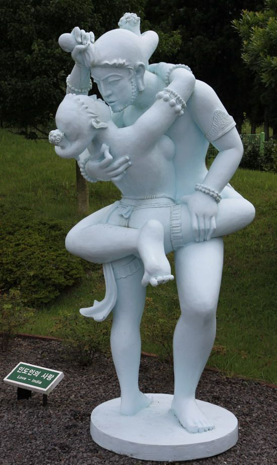 Erotic statues in the uhuru park