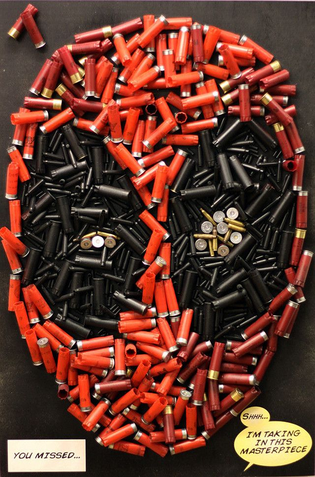 Deadpool Made From Bullets & Shotgun Shells