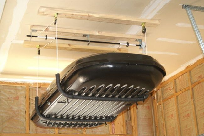 overhead garage storage with pulley
