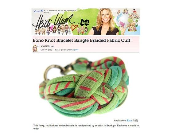 Bracelet Cuff Braided Womens Jewelry Sailor Knot Braid by Necklush, $28.00