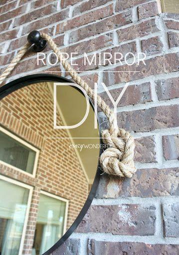 DIY rope mirror | tutorial
