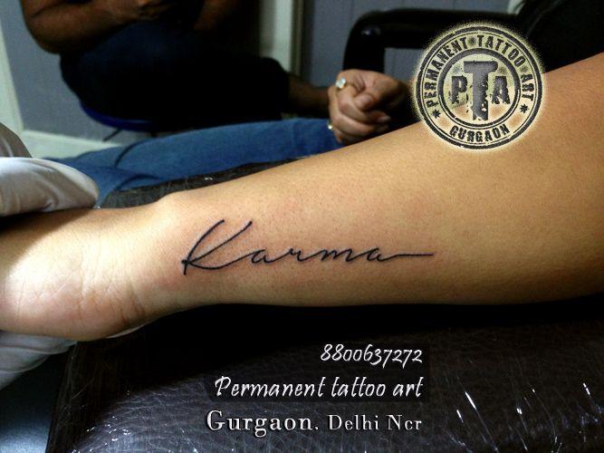Karma tattoo,  quote tattoo, anchor tattoo, faith tattoo, string tattoo, chain tattoo, heart tattoo, meaningful quote tattoo design, quote tattoo design idea, inspiring tattoo, inspirational quote tattoo design idea Done by -Deepak Karla 8800637272 AT- Permanent tattoo art, Gurgaon Delhi/NCR