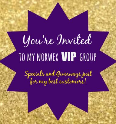 message me if you would like to be added to my vip norwex group - Norwex Party Invitation