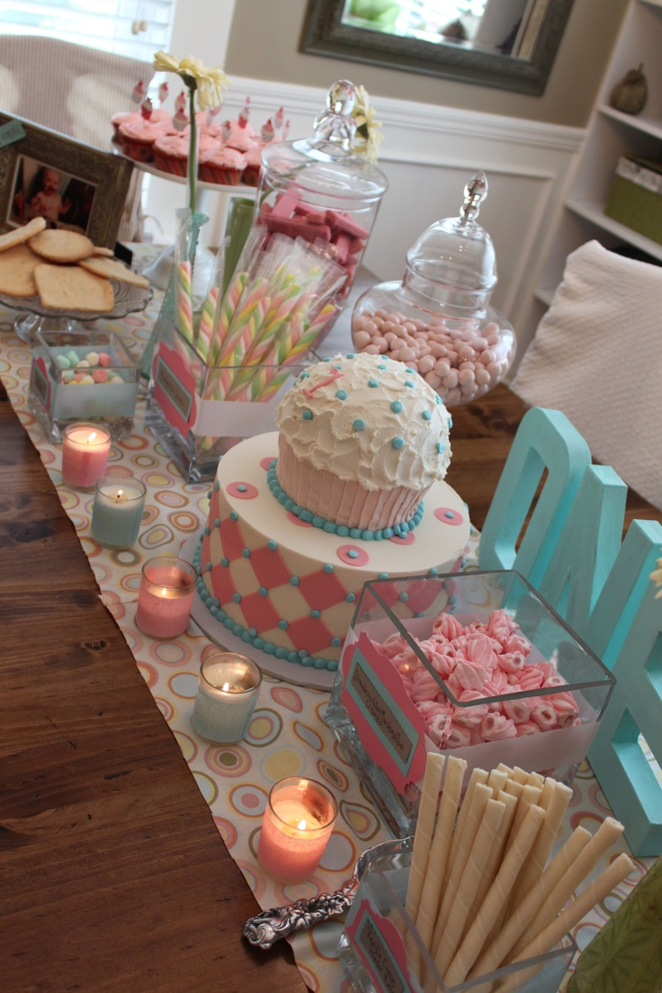 like this for baby shower or birthday party -- like the age painted to match and sitting out
