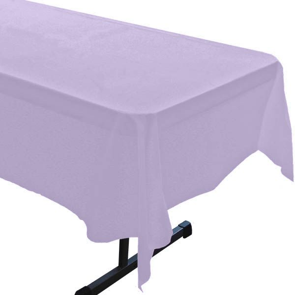 Luscious Lavender Plastic Table Roll 40in x 100ft
