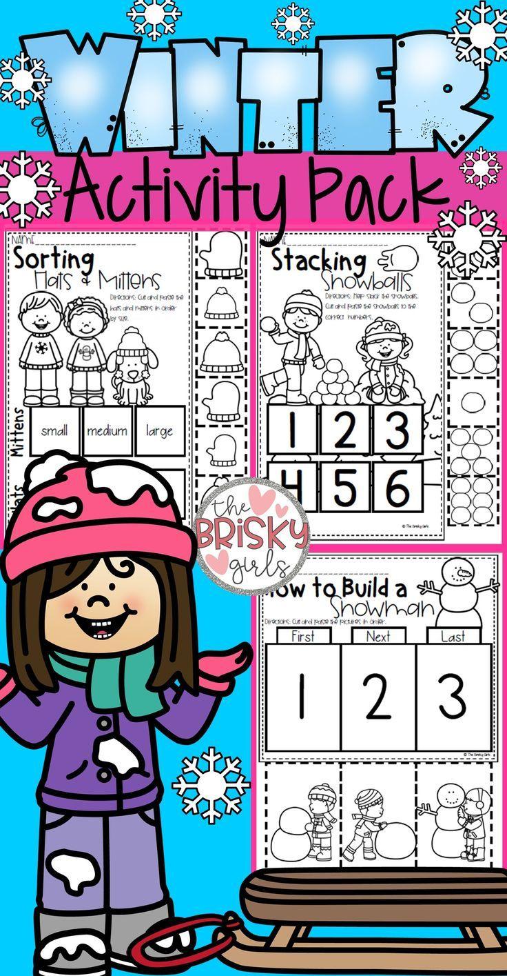 Winter Activity Packet Winter activities, Sequencing
