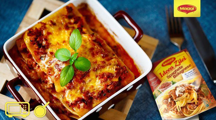 Ce parere aveti de un pranz super gustos cu lasagna la cuptor, preparata cu MAGGI Ideea Zilei Spaghete Bolognese? :D https://www.maggi.ro/lasagna-al-forno
