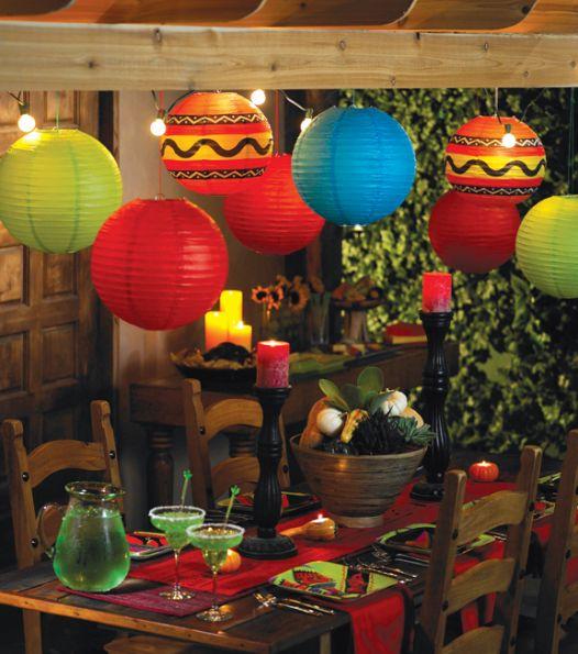 easy cinco de mayo party ideas | paper lanterns