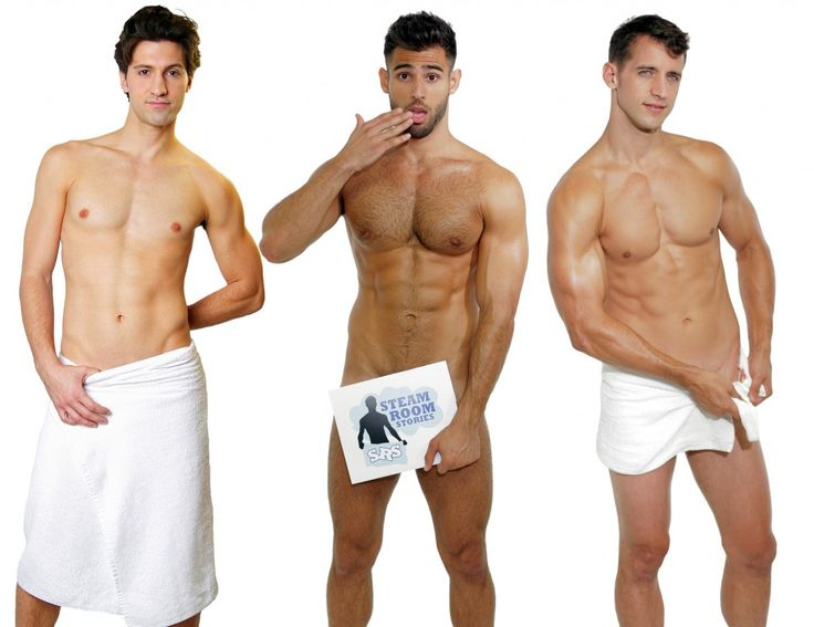 The boys of Steam Room Stories show off their new calendar